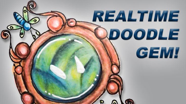 How to Draw Doodle Zen Gems Realtime Tutorial, Episode 3: Fluorite in Co...