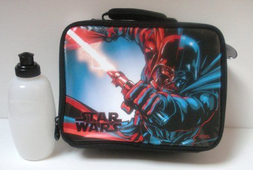 Star Wars Darth Vader Lunchbox Lunch Box Kit Tote @ niftywarehouse.com #NiftyWarehouse #Geek #Products #StarWars #Movies #Film
