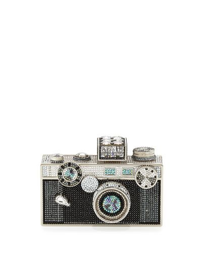 V2UQZ Judith Leiber Couture Camera Clutch Bag, Cosmo Jet....a clutch bag more expensive than a high end dslr camera. :)