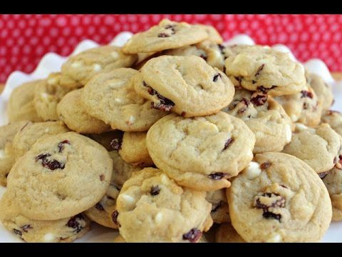 How To Make White Chocolate Cranberry Cookies - YouTube