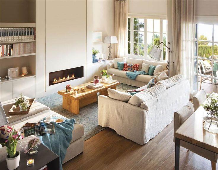 Mejores 135 im genes de salon en pinterest sala de estar - Salones rectangulares ...