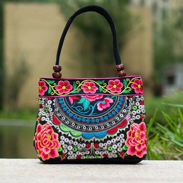 Exclusive Flower Embroidered Handbag //Price: $13.72 & FREE Shipping //     {#ethnic #fashion #style #traditional |#indian #beautiful #unique| #love #shopping | #ethnicwear #etnik |#vintage #dress | #bohochic #indianwear| #art  #hippie |#beauty #fashion | #sale #design |#onlineshopping #accessories | #Indean #Japanese #african