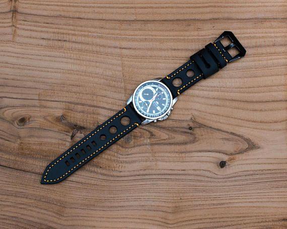 Sale. Leather Watch Strap 22mm Sport Style .Panerai