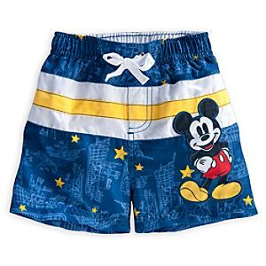 Disney Mickey Mouse Swim Trunks for Baby | Disney StoreMickey Mouse Swim Trunks for Baby - He'll be ready for fun in the sun with our bright and sporty Mickey Mouse Swim Trunks! The elastic waist keeps this swimsuit in place and the UPF 50  provides UVA and UVB protection.