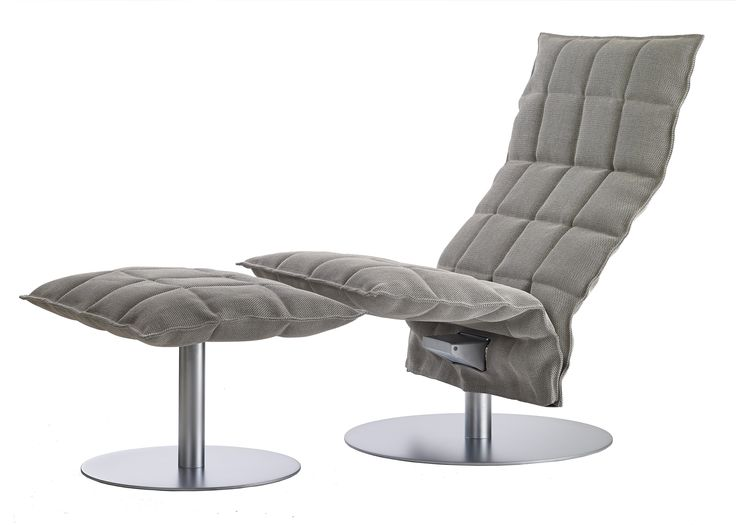 Woodnotes Swivel k chair narrow and ottoman, col. stone-black upholstery made with Sand paper yarn cotton fabric.