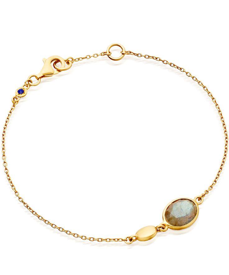 Astley Clarke Gold Vermeil Labradorite Cadenza Bracelet | Jewellery by Astley Clarke | Liberty.co.uk