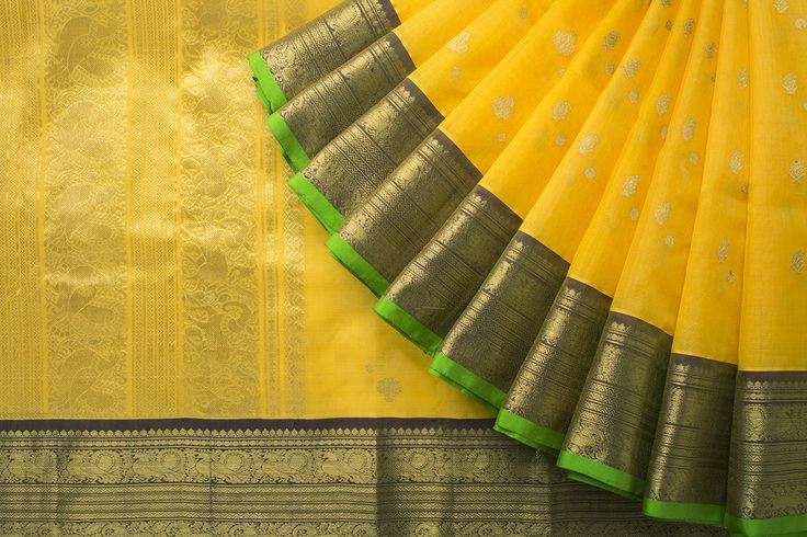 A bright and beautiful Organza silk sari featuring the traditional mythical creatures.
