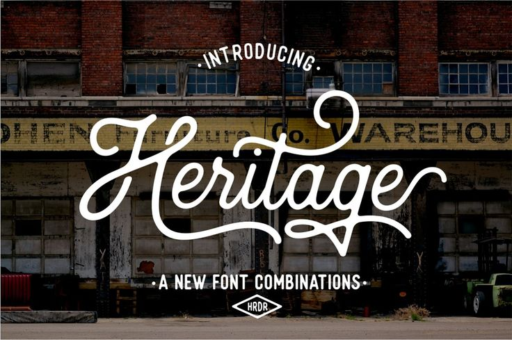 Heritage Font Combinations (20%Off) - Script