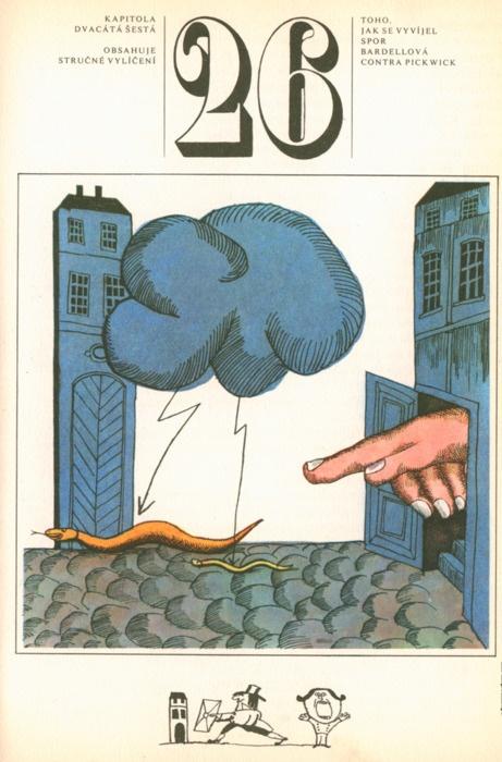 "Jiri Salamoun, Pickwick Papers (CZ)  gilliflower:    from a czech edition of dickens' ""the posthumous papers of the pickwick club"" illustrated by jiří šalamoun (via martin klasch / kidpix)"