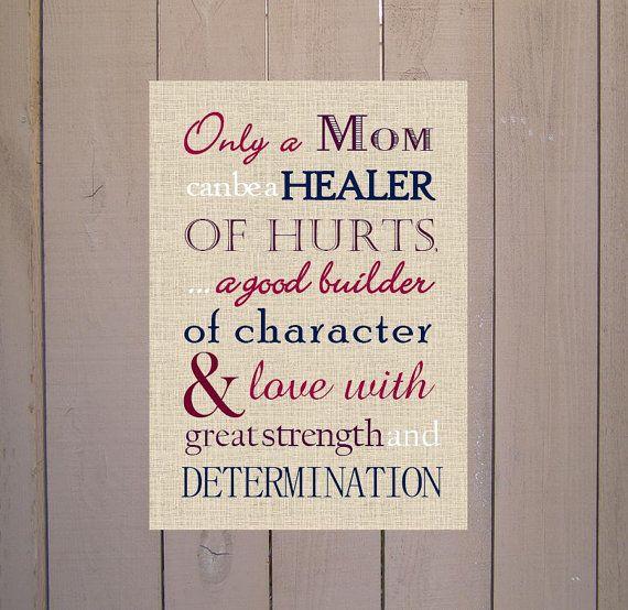 Mom Gift. Only a Mom Poem Print Typography by PoppyseedPrints