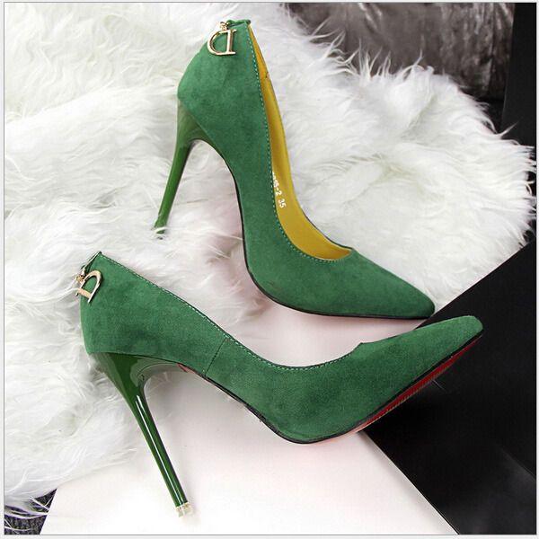 Simple Women Suede Slim High Heels Pumps Pointed Toe Fashion Work Shoes Stiletto #Unbranded #Stilettos