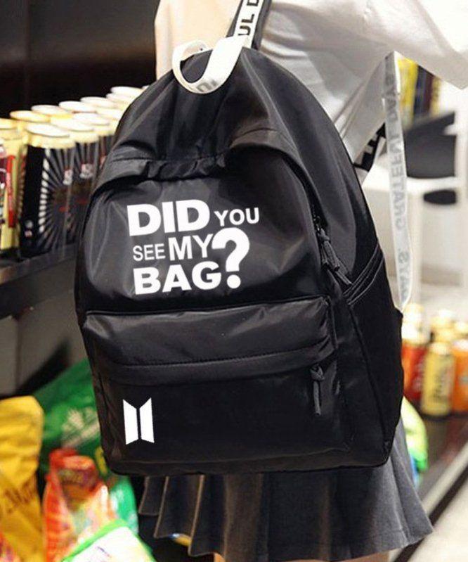 Mochila BTS Bangtan Boy Did You See My Bag