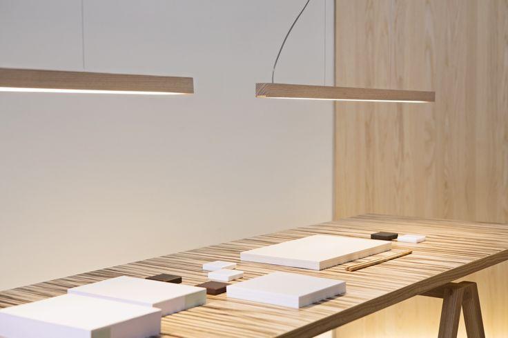 Tunto Led28 pendant lamps in ash wood