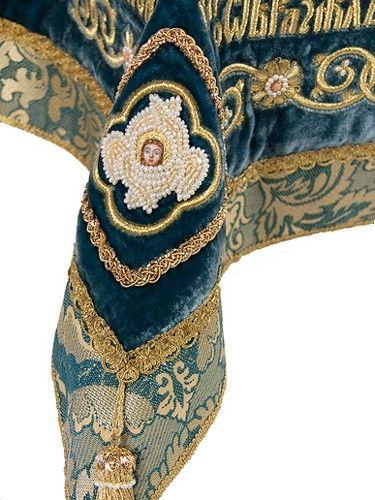 Embroidered cherubim, TO ORDER, Fabric: velvet. Catalog of St. Elisabeth Convent. About workshop: http://catalog.obitel-minsk.com/gold-embroidery #icon #MotherofGod #Blessed #VirginMary #CatalogOfGoodDeed #christianity #orthodoxy #church #Mary #goldwork #inspiration#orthodoxcraft #SewnGoods #art #beauty #ecclesiastical #iconsinoklad #shrouds