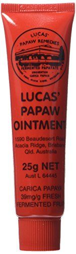 Lucas Paw paw Ointment is made in Australia from pure papaws. Lucas Papaw Ointment cleans away infectious wastes. Papaw contains Papain which helps clean wounds. The base used in Lucas Papaw ointment is certified to be free of carcinogens.