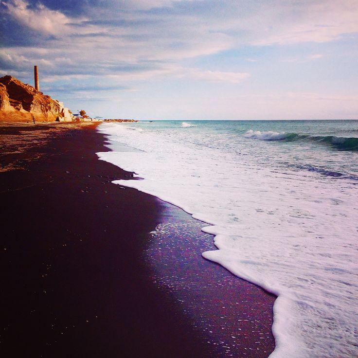 Santorini beach Vlychada