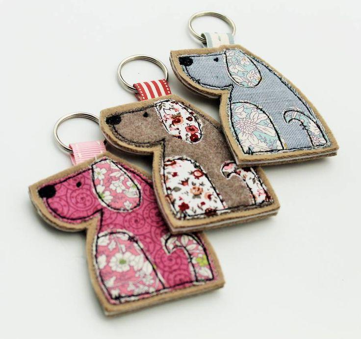 dog key ring by honeypips | notonthehighstreet.com