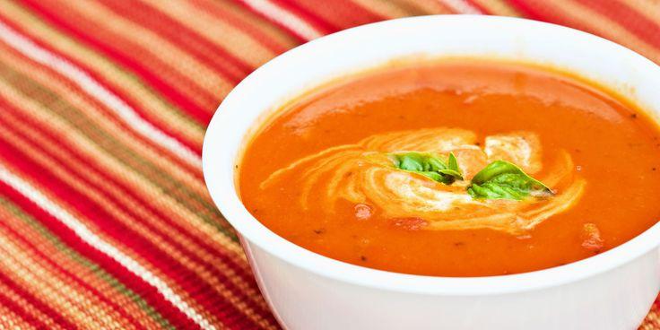 Tomatsuppe med røde linser – Oppskrift – Soma.no