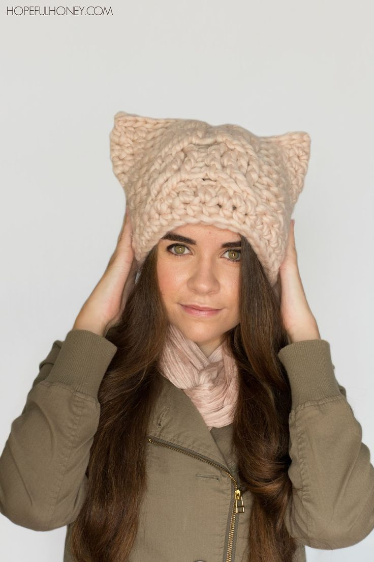 Crochet Kitty Cat Hat Pattern : Best 25+ Crochet cat hats ideas on Pinterest Cat hat ...