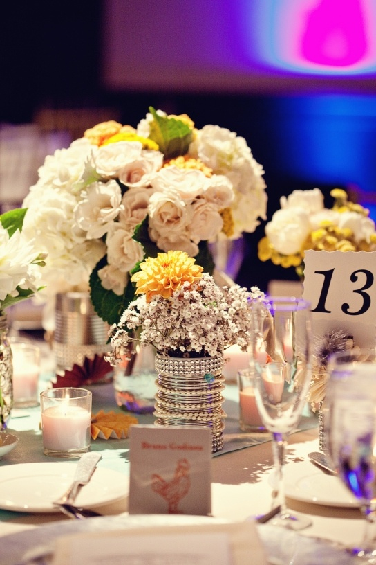 24 best tin can wedding diy images on pinterest decor wedding so pretty and so easy to replicate tin can diy wedding ideas junglespirit Images