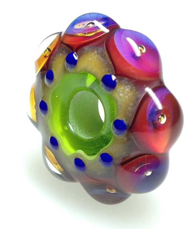 handmade glass bead by