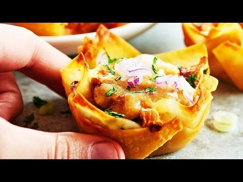 How to Make Chili Lime Baked Shrimp Cups - The Perfect Party Appetizer - YouTube