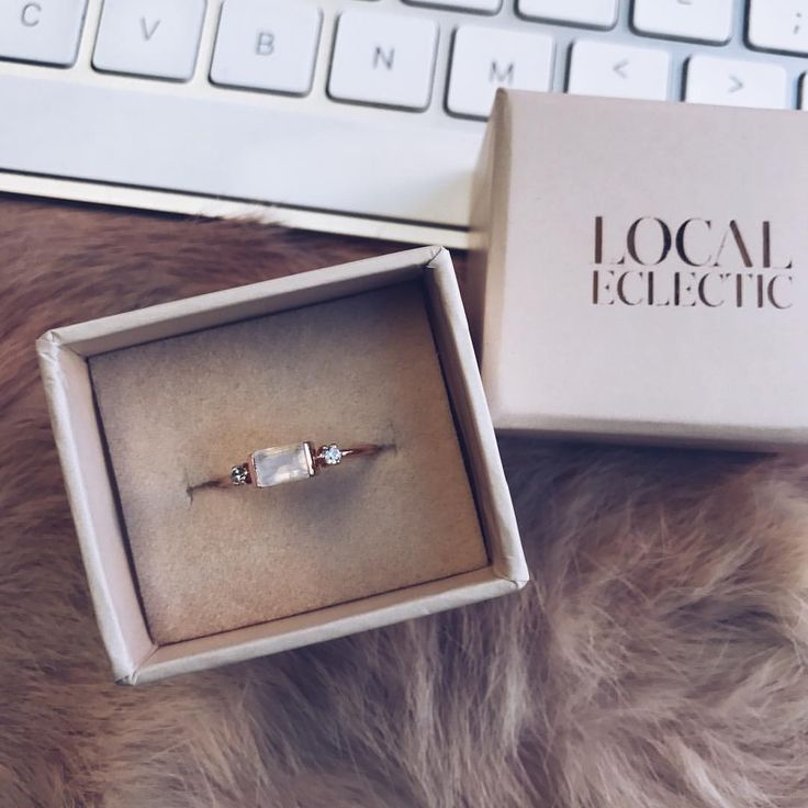 "2,325 Likes, 12 Comments - LOCAL ECLECTIC (@localeclectic) on Instagram: ""Rose gold Moonstone & Diamond Sky ring in our new rose gold boxes (hitting mailboxes in about a…"""