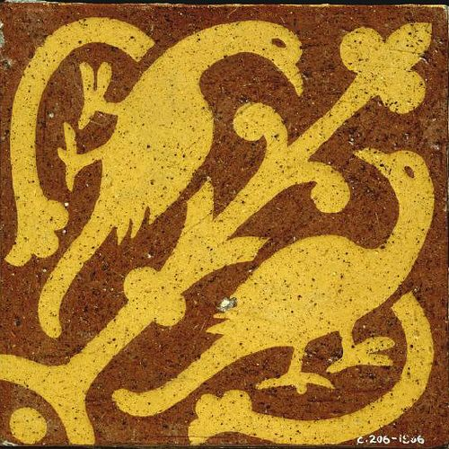 V&A collection: Tile Date: 1863-1870 (made) Place: Herefordshire Artist/maker: Godwin, William