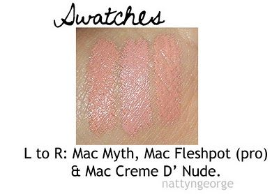 mac fleshpot swatches | Color swatches | Pinterest ...