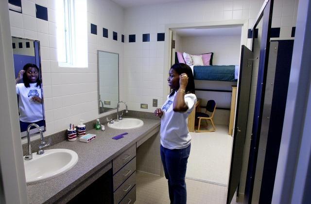 A Bathroom In Horton Hall At Unc Res Life At Unc