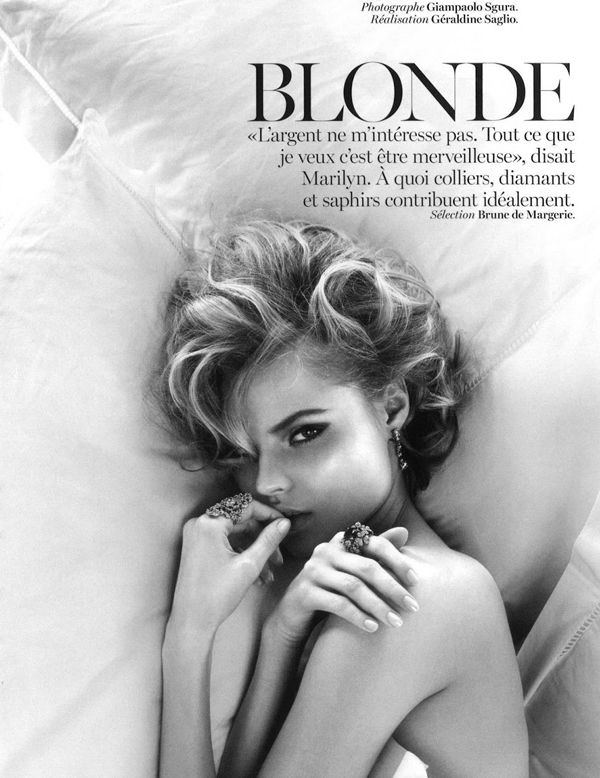 Giampaolo Sgura Lenses Blondie Magdalena Frackowiak For Vogue Paris May2013 - 4 Health | Body Image | Beauty - Anne of Carversville Women's...