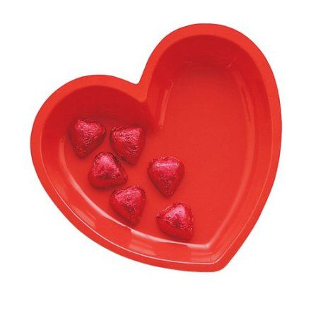 Red Heart Shaped Plastic Tray, Assorted