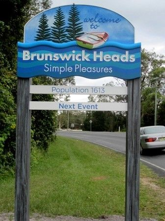 Brunswick Heads Entry sign