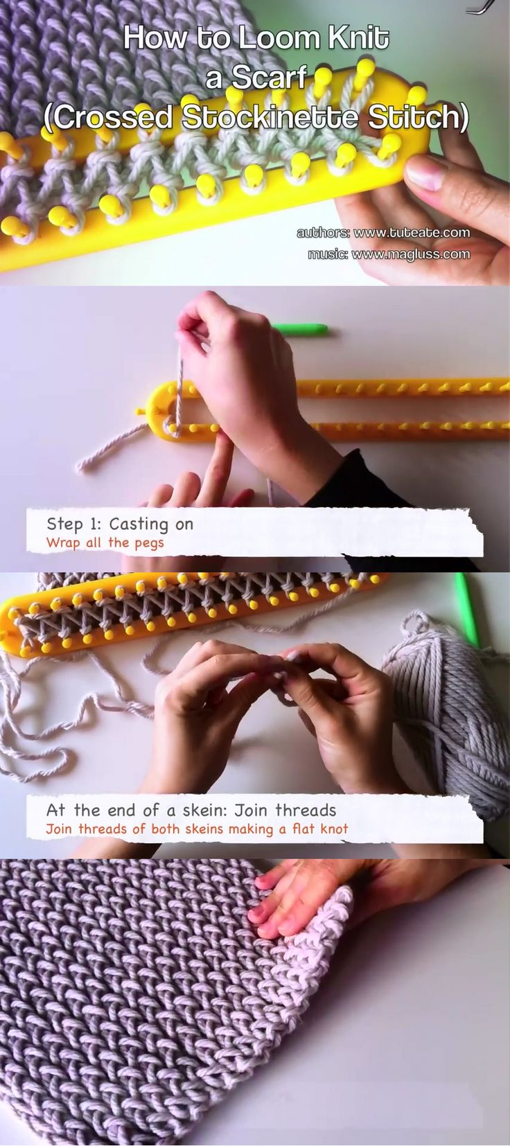 This step-by-step Video tutorial shows you how to knit a scarf in crossed…