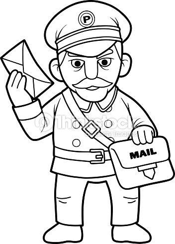 postman en 2020   Coloriage, Dessin animé, Illustration ...