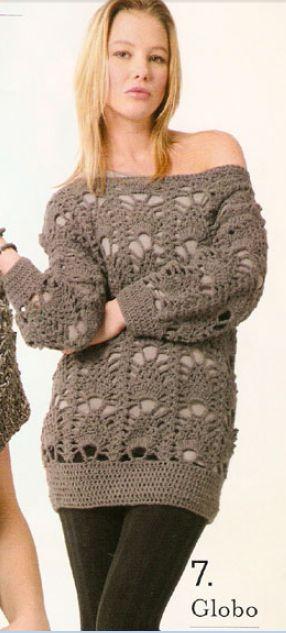 Blusa a crochet, tutorial: Inspiration Crochet Diy, Crochet Tutorials, Fd Scrap, Crochet Blouses, Crochet Ole, Crochet Sweaters, Crochet Tops, Crochet Knits, Crochet Clothing