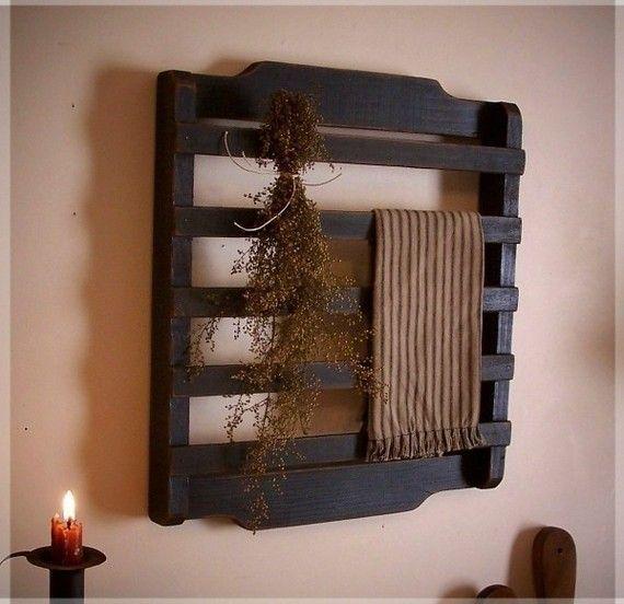 Letrero Baño Vintage:toallero de palets