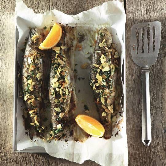 Boodschappen - Hele forel uit de oven met Marokkaanse kruiden