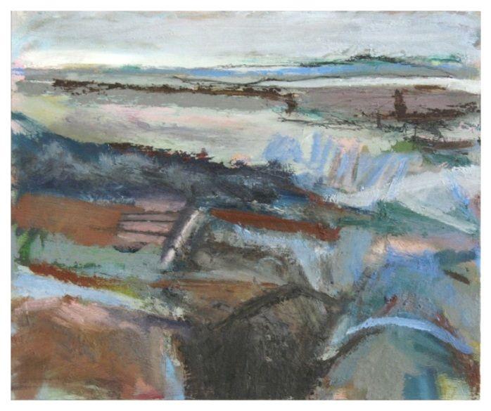 'Before the Tide Returns', Janine Baldwin, oil & charcoal on panel, 25 x 30cm  www.janinebaldwin.com
