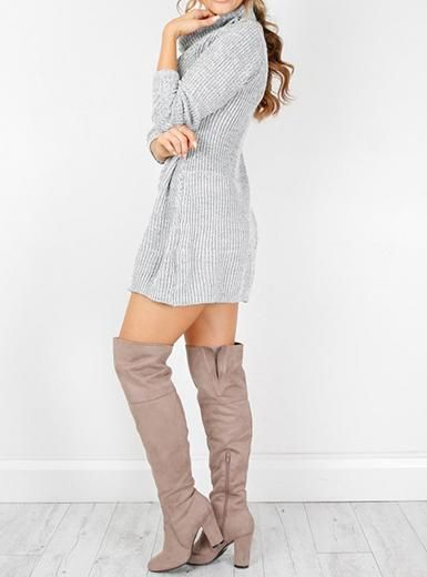 cbbb0fe8cc4 Sale Price   16.99 Long Sleeved Mini Sweater Dress - Cowl Neck by 1985 shop