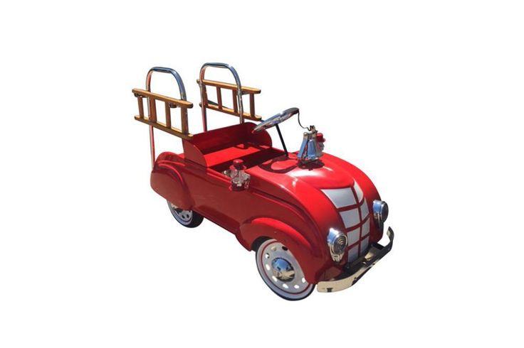 Rarely found 1937 restored Chrysler Fire Truck pedal car.