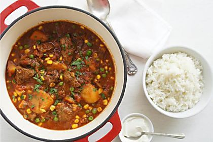 A simple, sweet, mild curry made with beef - but could just as easily be made with other meat, seafood or even vegetarian.
