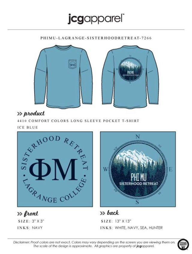 Phi Mu Sisterhood Retreat T-shirt
