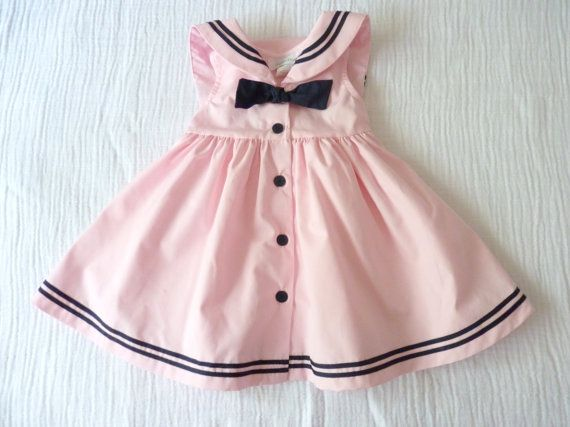 Pink and black baby sailor dress, $14.00
