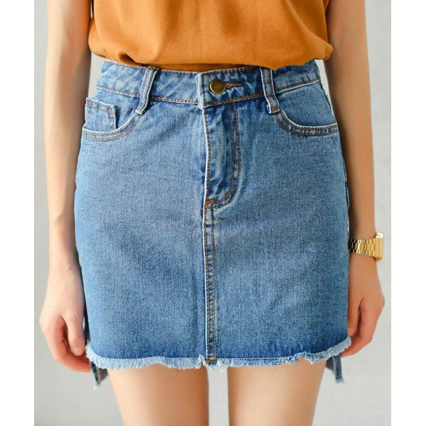 Stylish High-Waist Solid Color Bodycon Women's Skirt