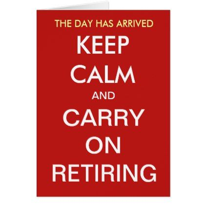 Funny Retirement Joke Quote Slogan Personalisable Card - diy cyo personalize design idea new special custom