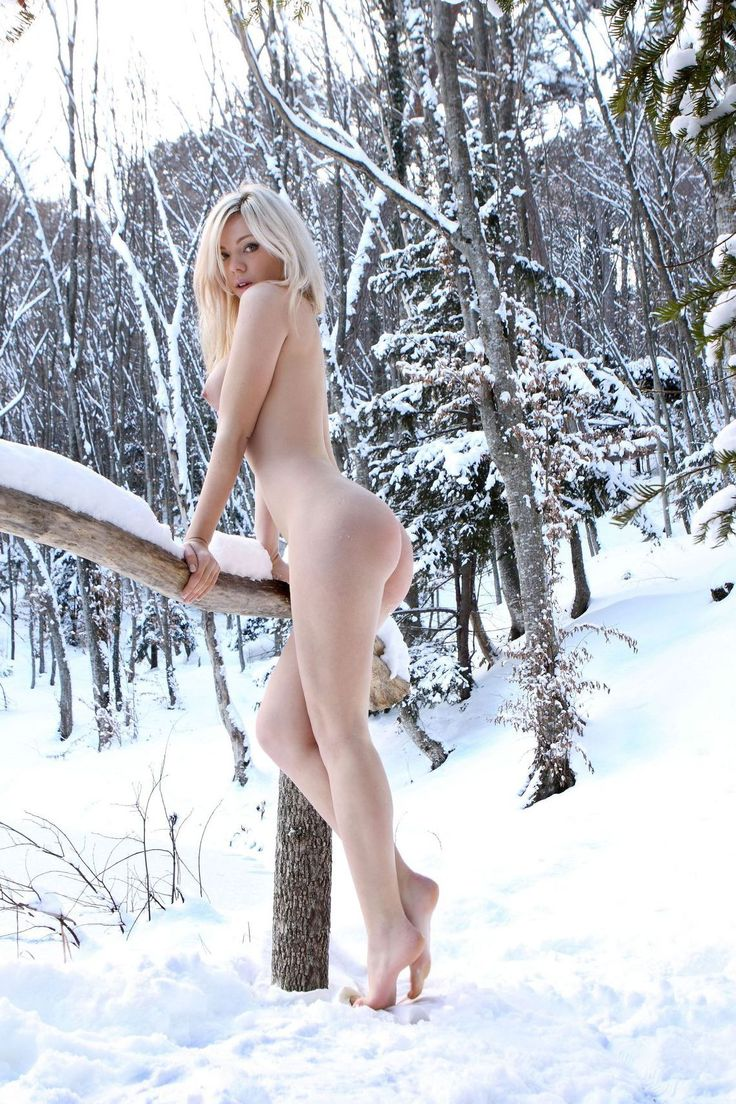 Nude Woman In The Snow