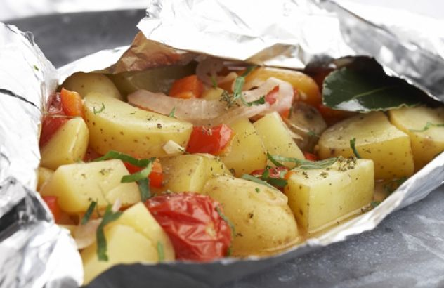 Aardappel- en groentepapillot