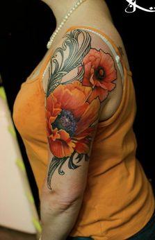 gorgeous poppy tattoo!