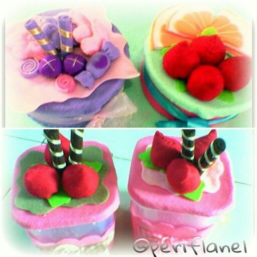Cookies Jar. Felt. Love Berry. Handmade.